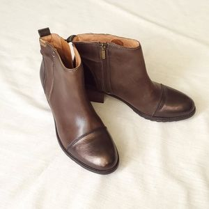 Pikolinos Brown Booties Gorgeous Two-tone Metallic